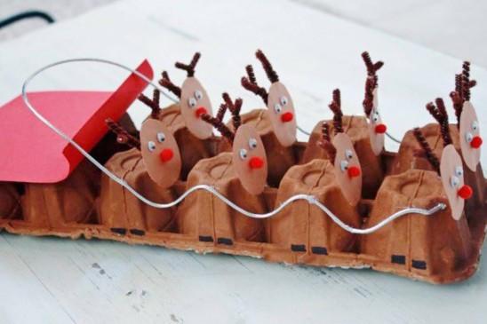Новогодние игрушки с коробки